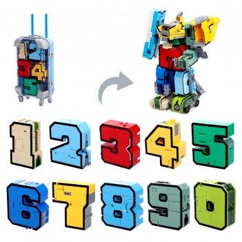 Игровой набор «робо-цифры», в чемодане от 0 до 9, микс