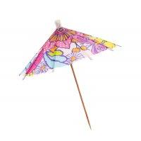 Шпажки для канапе зонтик в горошек (набор 6 шт), цвета микс