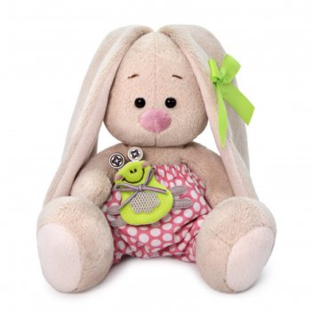 Мягкая игрушка «зайка ми», с лягушонком, 15 см