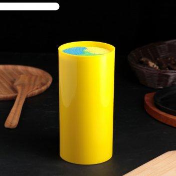 Подставка для ножей палитра, 22х11 см, цвет желтый