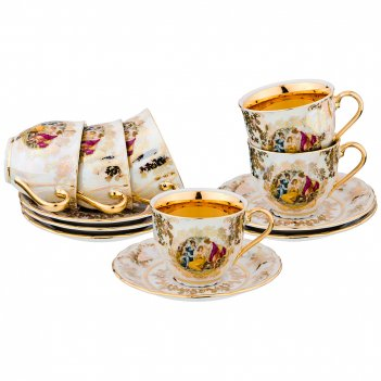 Чайный набор мадонна на 6 персон 12 пр. 230 мл.