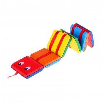Головоломка змейка с переворачивающимися цветными квадратами