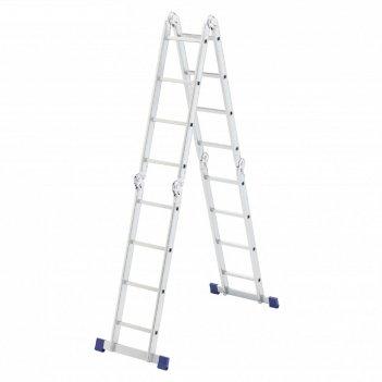 Лестница шарнирная сибртех 97882, алюминиевая, 4х4 ступени