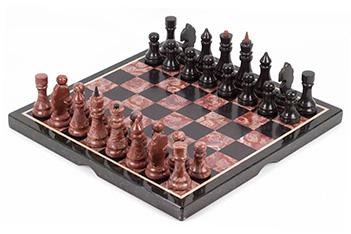 Шахматы лемезит змеевик 400х400 мм