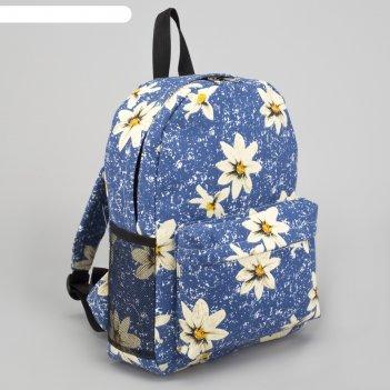Рюкзак молодёжный, отдел на молнии, наружный карман, 2 боковые сетки, цвет