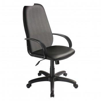 Кресло руководителя бюрократ ch-808axsn/or-16, искусственная кожа, чёрный