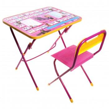 Набор детской мебели  маша и медведь. азбука 3 складной: стол и стул, цвет