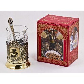 Набор для чая россия (3 пр.) арт. пд-77к (георгий)-л