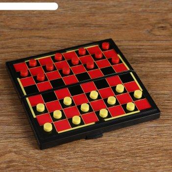 Игра настольная шашки, магнитные, в коробке