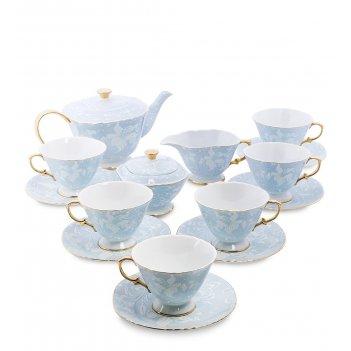 As-42 чайный сервиз на 6 перс. фиоре дорато (pavone)