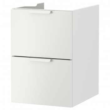 Шкаф для раковины годморгон, 2 ящика, 40x47x58 см, белый