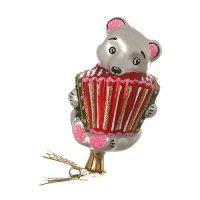 Ёлочное украшение мишка с гармошкой высота=8,5 с...