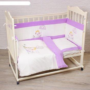 Комплект в кроватку куколка (6 предметов), цвет бежевый 70112