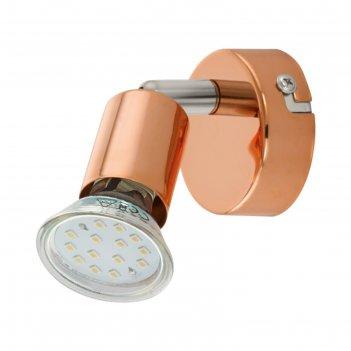 Светильник buzz-copper 1x3вт gu10 медь 6x6см