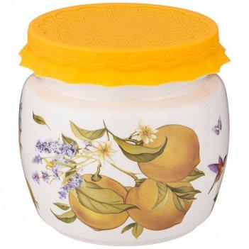 Банка с силиконовой крышкой прованс лимоны 750мл (кор=18шт.)