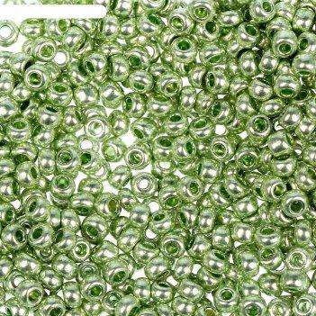 Бисер gamma круглый 10/0 (f396 св. салатовый/металлик)