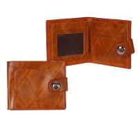 Кошелёк мужской на магните дэвид, 3 отдела, для карт, наружный карман, кор