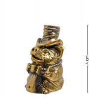 Am-1517 фигурка колокольчик-поросенок в шляпе (латунь)