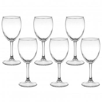 Набор фужеров для вина 240 мл империал плюс, 6 шт