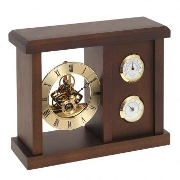 Метеостанция с композицией время, термометром и гигрометро...