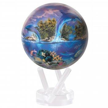 Глобус самовращающийся mova globe d12 см морская жизнь