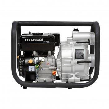 Мотопомпа бензиновая hyundai hyt 80, 5.2 квт, 7 л/с, 210 см3, 917 л/мин, д