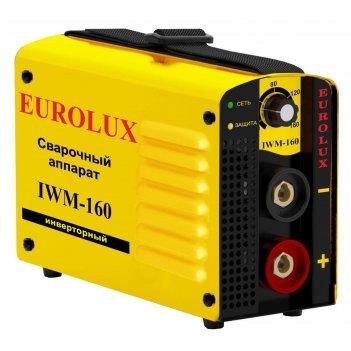 Сварочный аппарат инверторный eurolux iwm160, 220 в, 10-160 а, 4.8 квт, ip