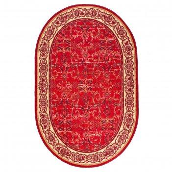 Ковер овальный каир 2, размер 200х300 см, цвет красный 31/2, войлок 195г/м