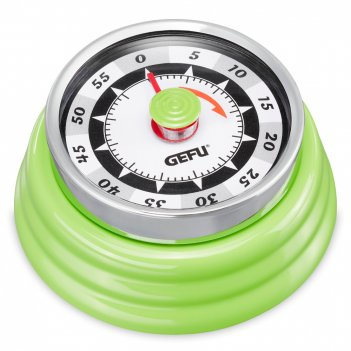 Таймер retro, диаметр: 7,3 см, материал: металл, цвет: зеленый, 12295, gef
