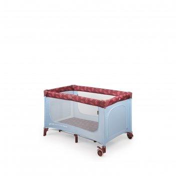 Кровать-манеж martin, цвет голубой