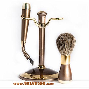 Набор для бритья weisen mss 1622 bronze&gold (совместим с gillette mach-3