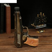 Штоф сувенирный фарфор пистолет 250 мл 4х13х22 см