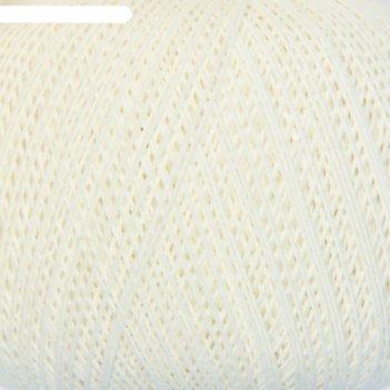 Нитки вязальные лилия 440м/75гр 100% хлопок цвет 0101