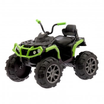Электромобиль квадроцикл, 2 мотора, цвет зеленый