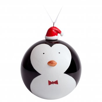 Елочный шар с фигуркой «новогодний пингвин», 9 см