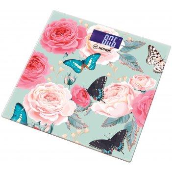 Весы напольные бабочки hottek ht-962-011 30*30 см макс.вес 180кг