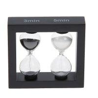 Часы песочные двойные 3,5 минут прямоугольник венге микс 11,5*3*10см