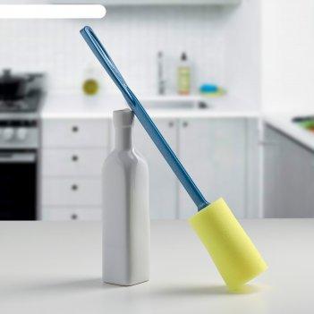 Ершик для мытья бутылок с губкой аметист