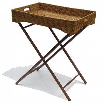 Сервировочный столик на деревянных ножках