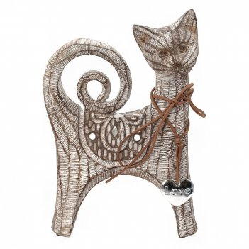 Фигурка декоративная кошка, l15,5 w7,5 h23см