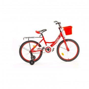 Велосипед 20 krostek wake, цвет красный