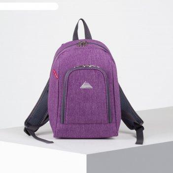 Рюкзак молодёжный, отдел на молнии, наружный карман, цвет сиреневый