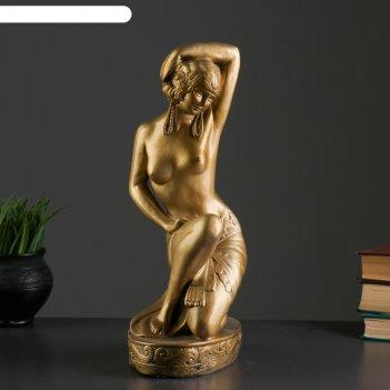 Фигура купальщица золото 20х14х37см