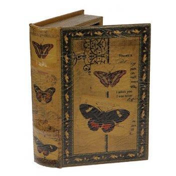 Шкатулка-фолиант бабочки 21*13*5см