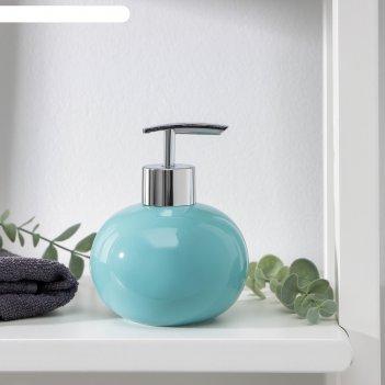 Дозатор для жидкого мыла карамель, цвет зеленый