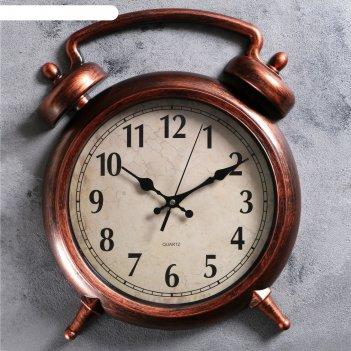 Часы настенные, серия: классика, большой будильник, 38х28 см