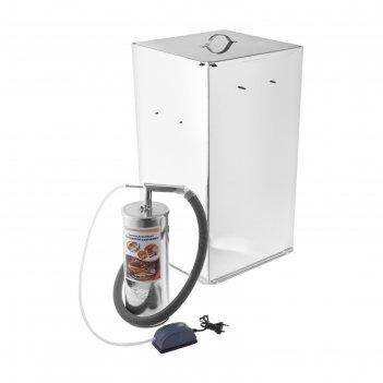 Коптильня холодного копчения дым дымыч 02б,  дымогенератор, серебристая