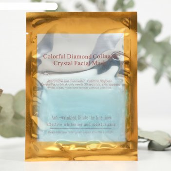 Гидрогелевая маска для лица collagen crystal коллаген и бриллиантовая пудр