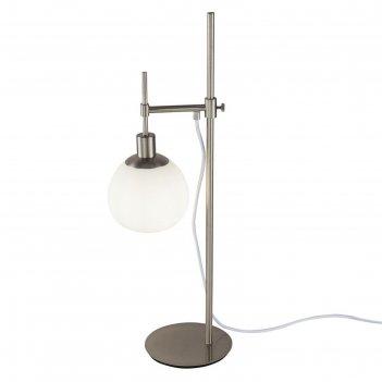 Настольная лампа erich, 1x40вт e14 никель