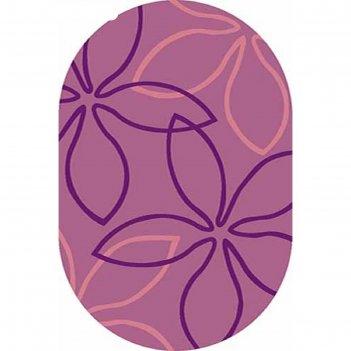 Ковёр карвинг фризе vision deluxe v806, 3*5 м, овал, lilac